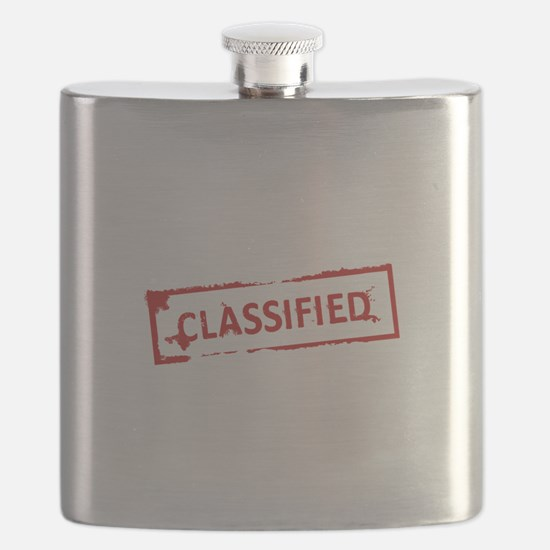 Classified Stamp Flask