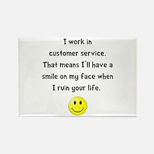 Customer Service Joke Rectangle Magnet (10 pack)