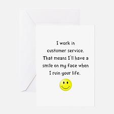 Customer Service Joke Greeting Card