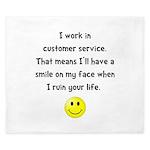 Customer Service Joke King Duvet