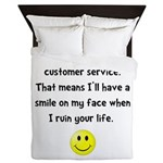 Customer Service Joke Queen Duvet