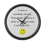 Customer Service Joke Large Wall Clock