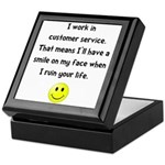 Customer Service Joke Keepsake Box