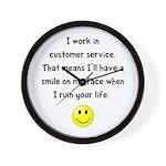 Customer Service Joke Wall Clock