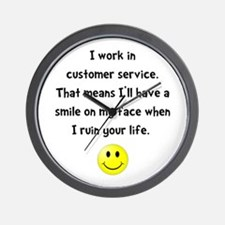 Customer Service Joke Wall Clock