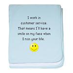 Customer Service Joke baby blanket