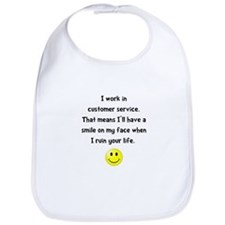 Customer Service Joke Bib