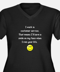 Customer Service Joke Plus Size T-Shirt