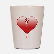 Broken Heart Shot Glass
