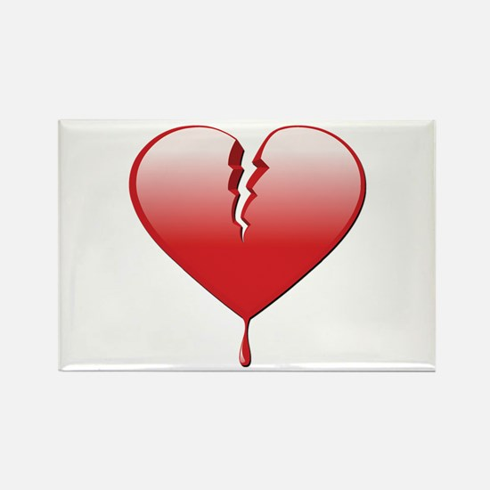 Broken Heart Rectangle Magnet