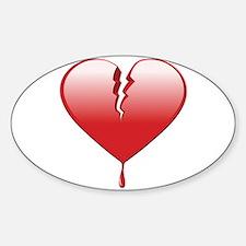 Broken Heart Decal