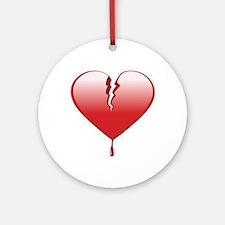 Broken Heart Ornament (Round)