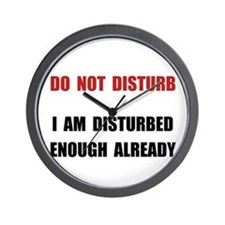 Do Not Disturb Wall Clock