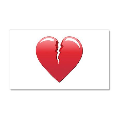 Broken Heart Car Magnet 20 x 12
