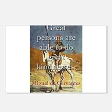 Great Persons Are Able - Cervantes Postcards (Pack