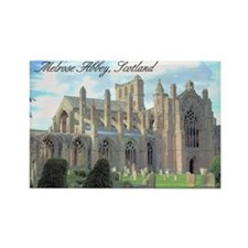 """Melrose Abbey"" Rectangle Magnet"