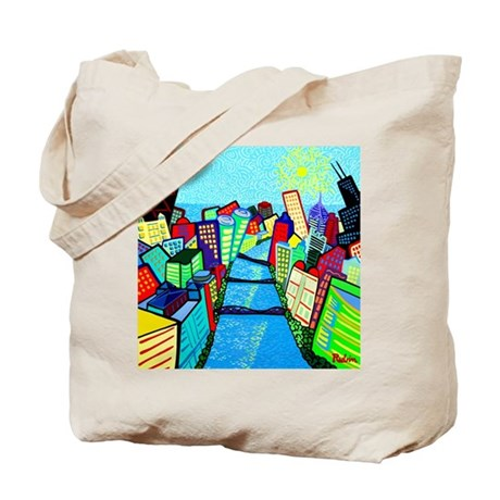 Chicago Riverview Tote Bag