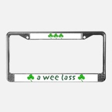 a wee lass 2 License Plate Frame
