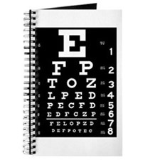 Eye chart gift Journal