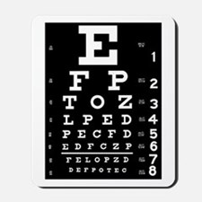 Eye chart gift Mousepad