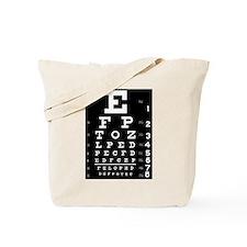 Eye chart gift Tote Bag