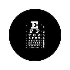 """Eye chart gift 3.5"""" Button"""