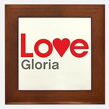I Love Gloria Framed Tile