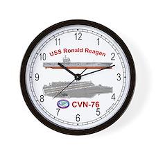 USS Ronald Reagan CVN-76 Wall Clock