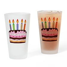Birthday Cake Drinking Glass