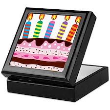 Birthday Cake Keepsake Box