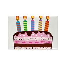 Birthday Cake Rectangle Magnet