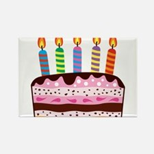 Birthday Cake Rectangle Magnet