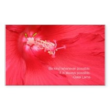 Dalai Lama Quote: Be kind. Decal