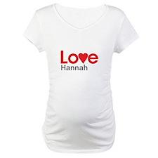 I Love Hannah Shirt