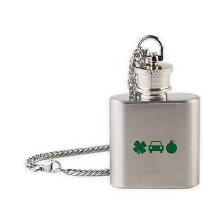 Irish Car Bomb, St Paddy's Day Flask Necklace