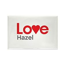 I Love Hazel Rectangle Magnet (100 pack)
