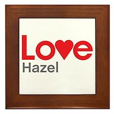 I Love Hazel Framed Tile