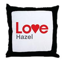 I Love Hazel Throw Pillow