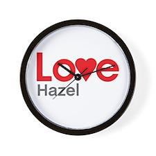 I Love Hazel Wall Clock