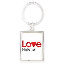 I Love Helene Portrait Keychain
