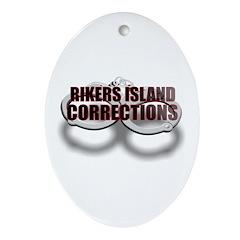RIKERS ISLAND Oval Ornament