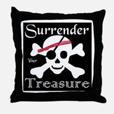 Surrender Your Treasure Throw Pillow