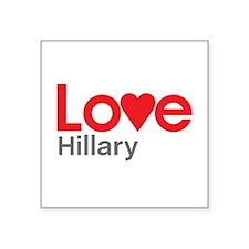 I Love Hillary Sticker