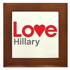 I Love Hillary Framed Tile