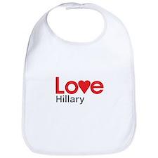 I Love Hillary Bib