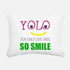 SMILEY YOLO Rectangular Canvas Pillow