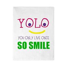 SMILEY YOLO Twin Duvet