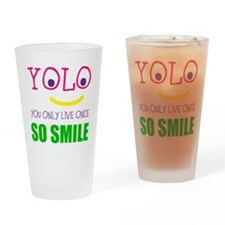 SMILEY YOLO Drinking Glass