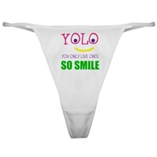 SMILEY YOLO Classic Thong