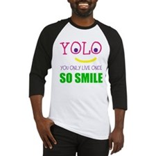 SMILEY YOLO Baseball Jersey